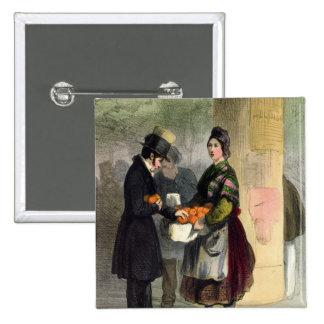 El vendedor anaranjado, de 'Les Femmes de París Pin Cuadrada 5 Cm