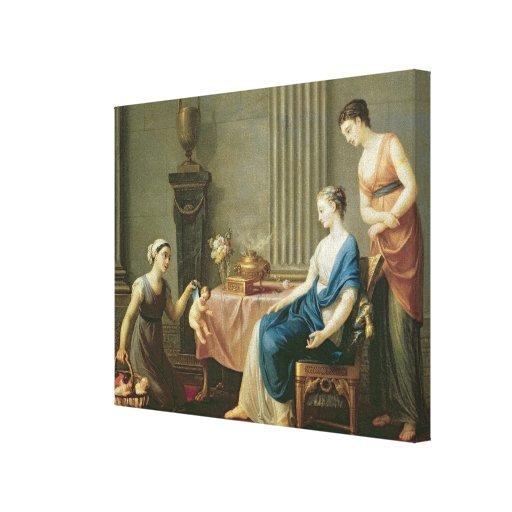 El vendedor de amores, 1763 impresión en lona estirada