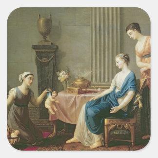 El vendedor de amores, 1763 calcomanías cuadradas personalizadas