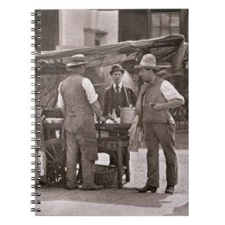 El vendedor de crustáceos, a partir de la 'vida en libros de apuntes