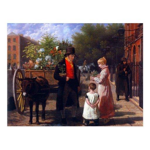 El vendedor de la flor tarjeta postal