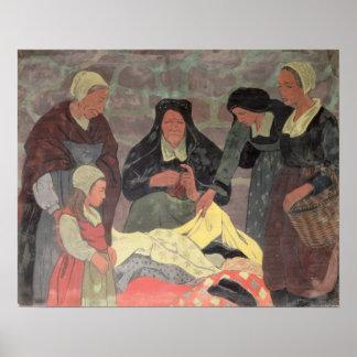 El vendedor de la tela, c.1898 póster
