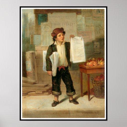 El vendedor de periódicos póster