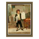 El vendedor de periódicos tarjetas postales