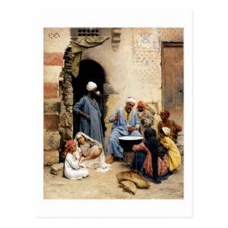 El vendedor del sahleb, postal de El Cairo
