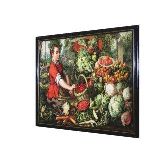 El vendedor vegetal lienzo envuelto para galerias