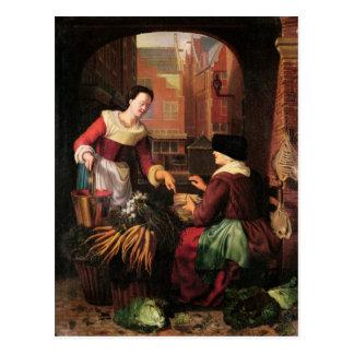 El vendedor vegetal postal