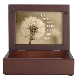 Él vendrá a nosotros como el verso de la biblia de cajas de recuerdos