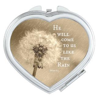Él vendrá a nosotros como el verso de la biblia de espejo para el bolso