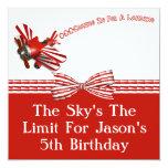 El venir adentro para el cumpleaños de aterrizaje invitación 13,3 cm x 13,3cm