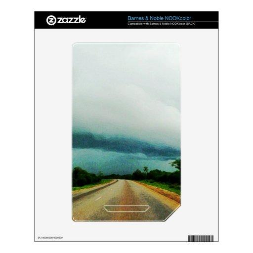 El venir de la tormenta calcomanías para el NOOK color