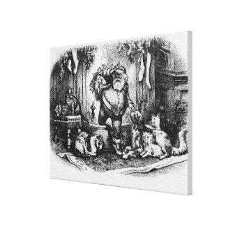 El venir de Papá Noel, 1872 Impresión En Lienzo Estirada