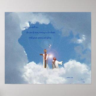 el venir en las nubes póster