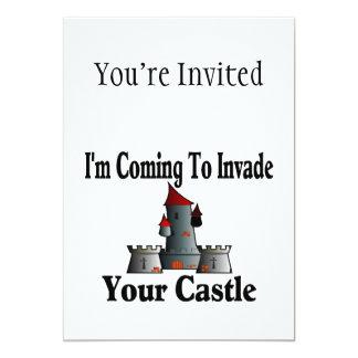 """El venir invadir su castillo invitación 5"""" x 7"""""""