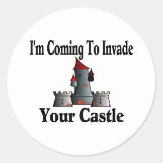 El venir invadir su castillo