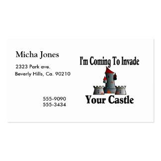 El venir invadir su castillo tarjetas de visita