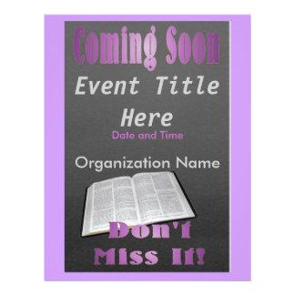 El venir pronto púrpura del aviador tarjetas informativas