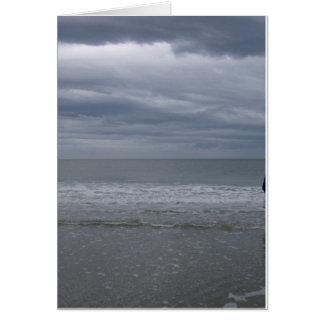 El venir tempestuoso de los mares tarjeta de felicitación