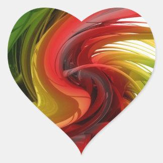 El venir vivo pegatina en forma de corazón