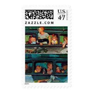 El venir y el ir de Norman Rockwell Sellos Postales