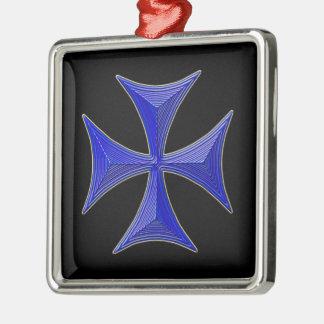 el ver 01 knights la cruz templar - fondo negro ornamentos de navidad