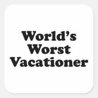 El veraneante peor del mundo etiquetas