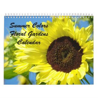 El verano colorea las fotos florales de los calend