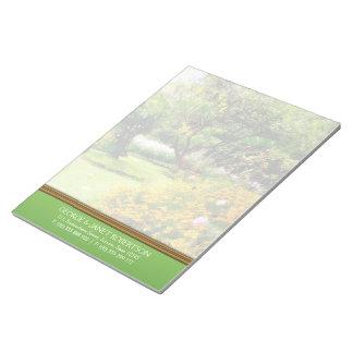 El verano cultiva un huerto libreta personalizada  bloc de papel