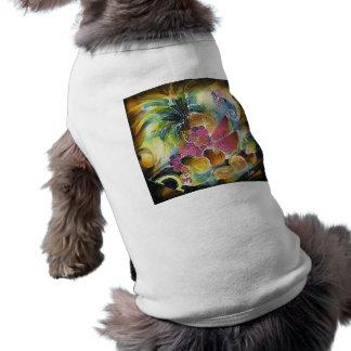 El verano da fruto la pintura de seda del arte playera sin mangas para perro