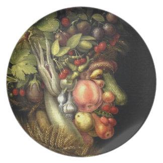 El verano de Giuseppe Arcimboldo 1563 Platos De Comidas