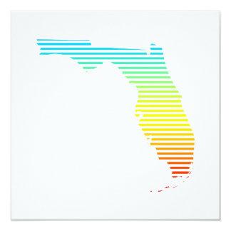 """el verano de la Florida se descolora Invitación 5.25"""" X 5.25"""""""