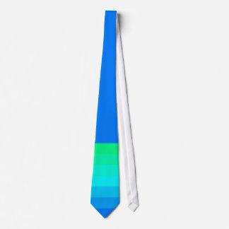 El verano del hombre caliente ata azules y verdes corbata personalizada