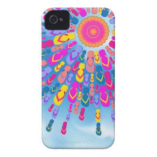 El verano enrrollado Sun Flip-Flops el caso del iP iPhone 4 Case-Mate Funda