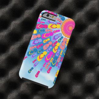 El verano enrrollado Sun Flip-Flops rayos Funda De iPhone 6 Tough