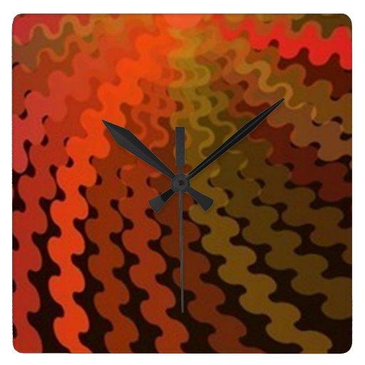 El verano espiral colorea el reloj de pared