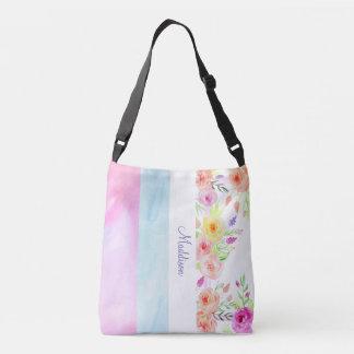 el verano florece al diseñador rosado azul blanco