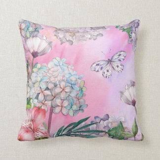 el verano florece la almohada rosada de las cojín decorativo