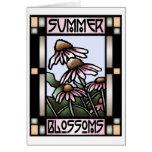 El verano florece tarjeta