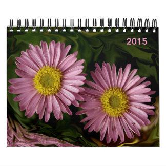 El verano floreciente magnífico florece 2015 calendarios de pared