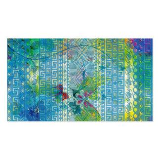 el verano fresco colorea el modelo azul suave azte tarjetas personales
