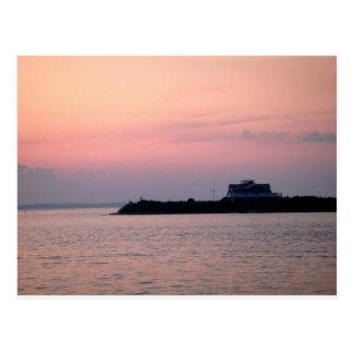 El verano pasado puesta del sol tarjetas postales
