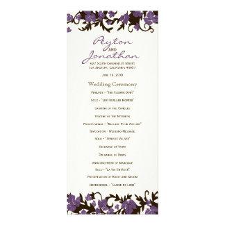 El verano púrpura de Brown deja programas del boda Tarjetas Publicitarias Personalizadas