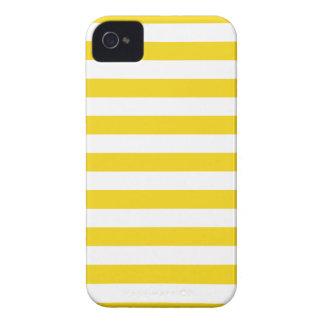 El verano raya la caja amarilla limón estupenda de iPhone 4 Case-Mate cobertura