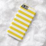 El verano raya la caja amarilla limón estupenda funda de iPhone 6 barely there