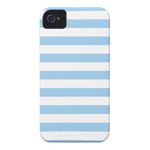 El verano raya la caja azul de Iphone 4/4S del Cor Case-Mate iPhone 4 Carcasas