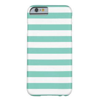 El verano raya la caja del iPhone 6 de la turquesa Funda De iPhone 6 Slim