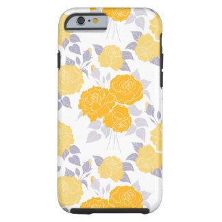 El verano subió en el amarillo - rosas del funda de iPhone 6 tough