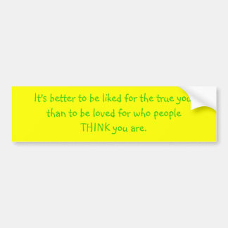 El verdad usted etiqueta de parachoque