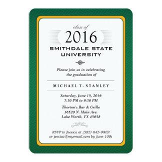 """El verde 2016 y la fiesta de graduación formal del invitación 5"""" x 7"""""""