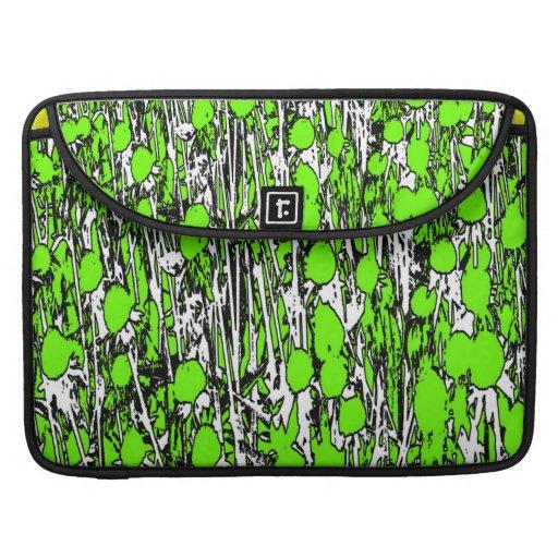 El verde abstracto florece MacBook/la manga de Mac Fundas Para Macbook Pro